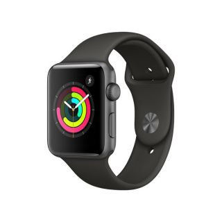 Apple Watch Series 3 38mm Gray Aluminum Case with Gray Sport Band MR352