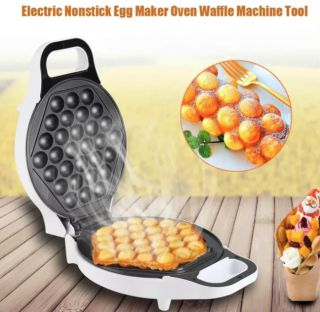 220V 640W Non Stick Electric Household Bubble Egg Maker Oven Waffle Kitchen Baker Machine Tool - intl